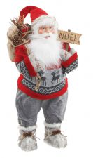 Santa Father Christmas Decoration Standing 60cm