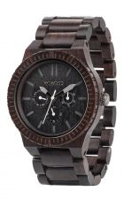 Mens WeWood Kappa Black Wooden Watch