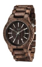 Mens WeWood Assunt Choco Rough Wooden Watch