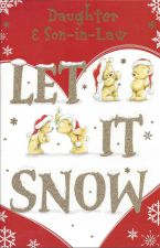 Daughter & Son in Law Let it Snow - Christmas Card