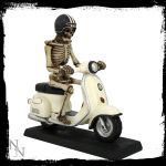 Skeleton Figure on a Scooter - Nemesis Now