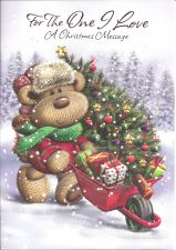 For the One I Love Bear & Tree  - Christmas Card