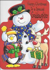 Goddaughter Red - Christmas Card