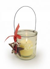 Christmas Jar Candle Holder with Handle