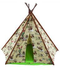 Childrens Deluxe Cowboy Wigwam Teepee Play Tent
