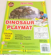 Dinosaur Playmat - Colour Your Own - With Crayons