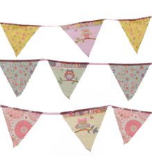 Cute Dotty Owl Patchwork Style Bunting