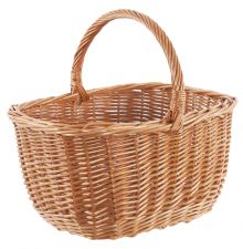 Willow Wicker Shopping or Grooming Basket