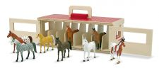 Melissa & Doug Take Along Stable with Horses