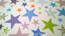 Blue Stars Gift Wrapping Paper Sheet