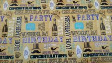 Male Happy Birthday Gift Wrapping Paper Sheet