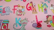 Alphabet Pink Girls Gift Wrapping Paper Sheet