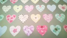 Heart & Silver Gift Wrapping Paper Sheet