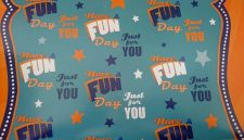 Just for You Have A Fun Day Gift Wrapping Paper Sheet