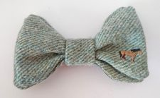 Hector the Highland Pony Handmade Green Tweed Bow Tie