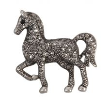 Diamant� Trotting Horse Brooch