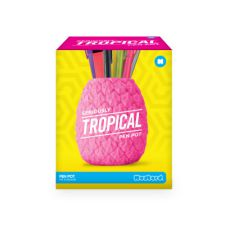 Pineapple Seriously Tropical Pen Pot - Green/Pink