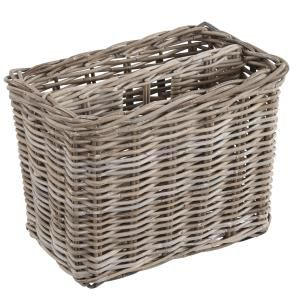 Grey Rattan Magazine Letter Rack Basket